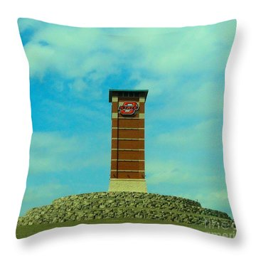Oklahoma State University Gateway To Osu Tulsa Campus Throw Pillow by Janette Boyd
