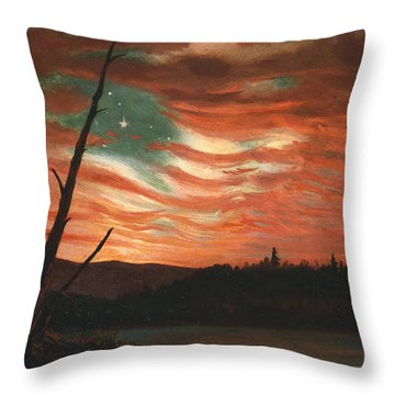 Our Banner In The Sky Throw Pillow by Frederic Edwin Church
