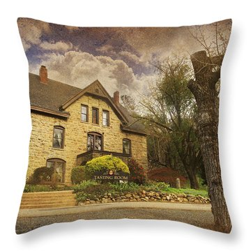 Our Fairytale Throw Pillow by Laurie Search