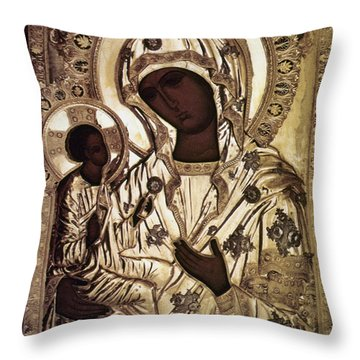 Our Lady Of Yevsemanisk Throw Pillow by Granger