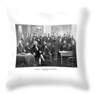 Our Presidents 1789-1881 Throw Pillow by War Is Hell Store