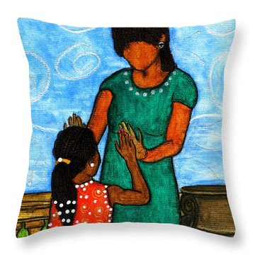 Our Time Throw Pillow by Angela L Walker