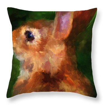 Over My Shoulder Throw Pillow by Jai Johnson