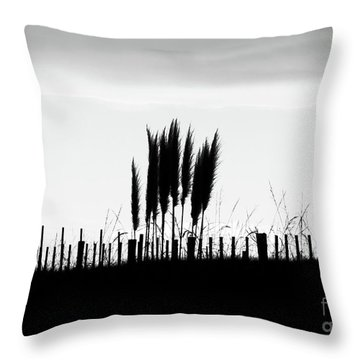 Over The Fence Throw Pillow by Karen Lewis