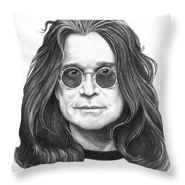 Ozzy Osbourne Throw Pillow by Murphy Elliott