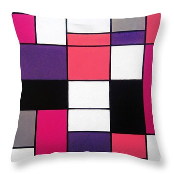 P Cubed Throw Pillow by Oliver Johnston