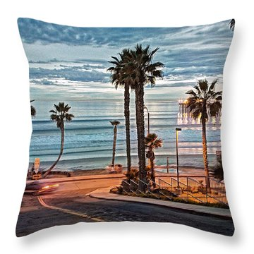 Pacific And 1st Street Throw Pillow by Ann Patterson