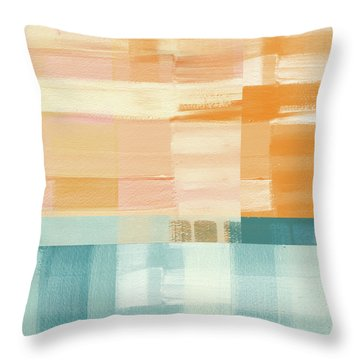 Pacific Sunset- Abstract Art By Linda Woods Throw Pillow by Linda Woods