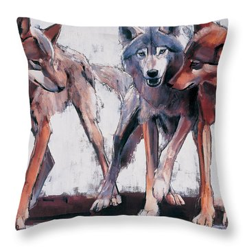 Pack Leaders Throw Pillow by Mark Adlington
