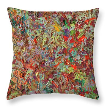 Paint Number 33 Throw Pillow by James W Johnson