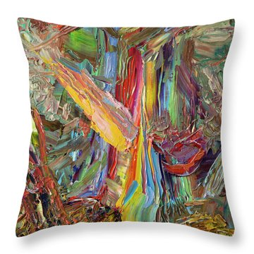 Paint Number 40 Throw Pillow by James W Johnson