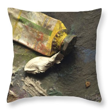 Painting Tub Throw Pillow by Bernard Jaubert