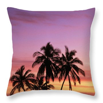 Palm Cluster Throw Pillow by Allan Seiden - Printscapes