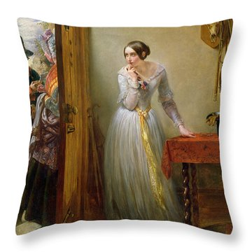 Palpitation Throw Pillow by Charles West Cope