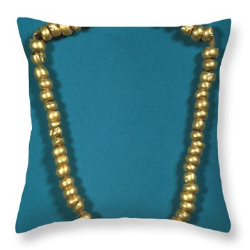 Panama: Gold Beads, C1000 Throw Pillow by Granger