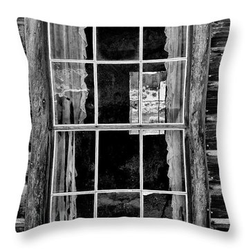 Panes To The Past Throw Pillow by Sandra Bronstein
