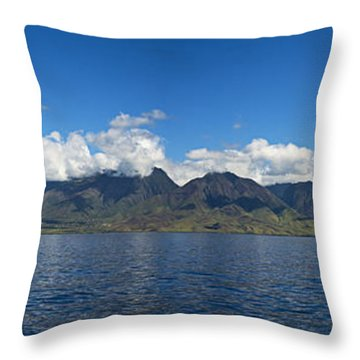 Panoramic West Maui Throw Pillow by Dave Fleetham - Printscapes