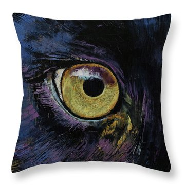Panther Eye Throw Pillow by Michael Creese