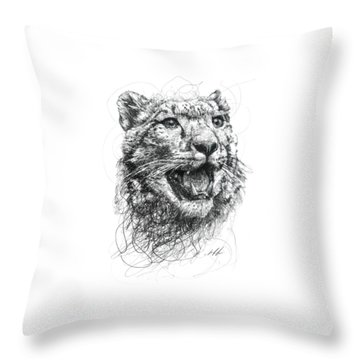 Leopard Throw Pillow by Michael  Volpicelli