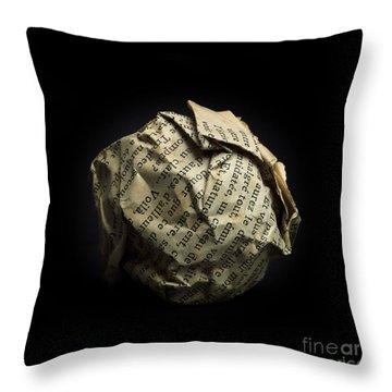 Paper Throw Pillow by Bernard Jaubert