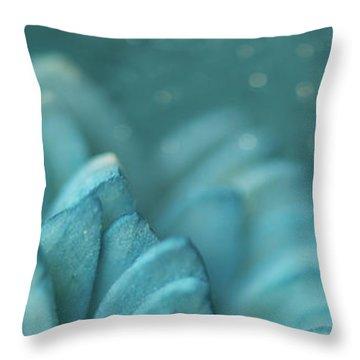 Paper Flower Throw Pillow by Lisa Knechtel
