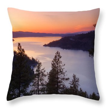 Paradise View Throw Pillow by Idaho Scenic Images Linda Lantzy