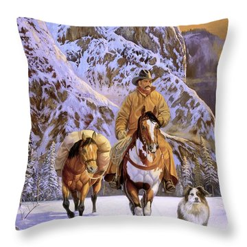 Pardners Throw Pillow by Howard Dubois