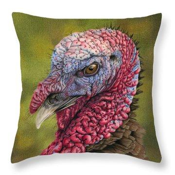 Pardon Me? Throw Pillow by Sarah Batalka