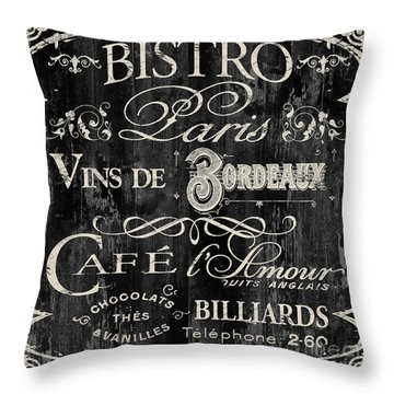Paris Bistro  Throw Pillow by Mindy Sommers