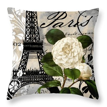 Paris Blanc I Throw Pillow by Mindy Sommers