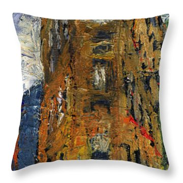 Paris Hotel 7 Avenue Throw Pillow by Yuriy  Shevchuk