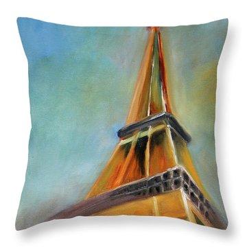Paris Throw Pillow by Jutta Maria Pusl