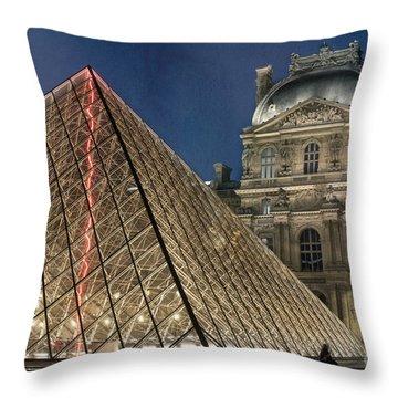 Paris Louvre Throw Pillow by Juli Scalzi
