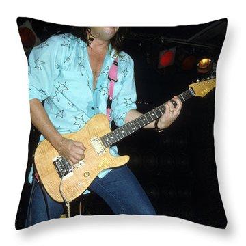 Pat Travers Throw Pillow by Rich Fuscia
