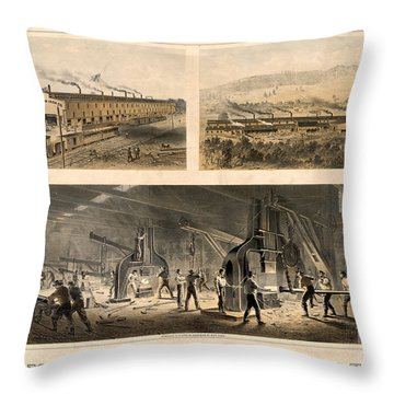 Paterson Iron Company Throw Pillow by Granger