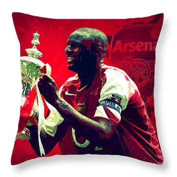 Patrick Vieira Throw Pillow by Semih Yurdabak