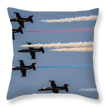 Patriot Aerial Demonstration Team Throw Pillow by Tommy Anderson