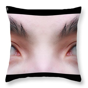 Patriotic Eyes - Poster Throw Pillow by James BO  Insogna