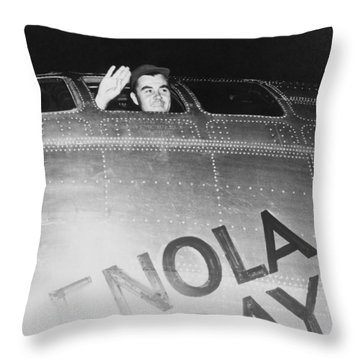 Paul Tibbets In The Enola Gay Throw Pillow by War Is Hell Store