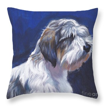 pbgv Petit Basset Griffon Vendeen Throw Pillow by Lee Ann Shepard