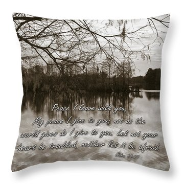 Peace I Leave With You Throw Pillow by Carolyn Marshall