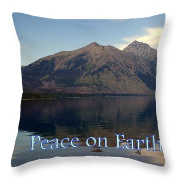 Peace On Earth 1 Throw Pillow by Marty Koch