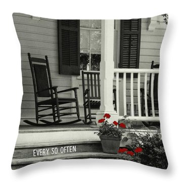 Peaceful Quote Throw Pillow by JAMART Photography