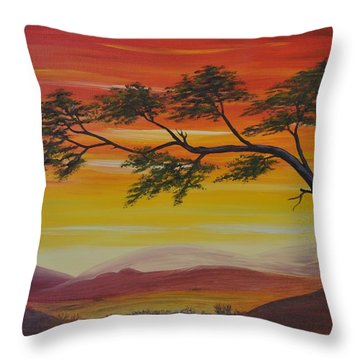 Peacefulness Throw Pillow by Georgeta  Blanaru