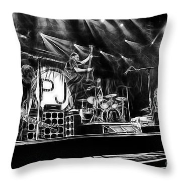 Pearl Jam Collection Throw Pillow by Marvin Blaine