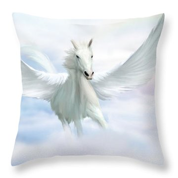 Pegasus Throw Pillow by John Edwards