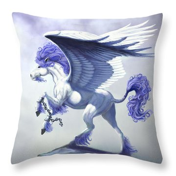 Pegasus Unchained Throw Pillow by Stanley Morrison