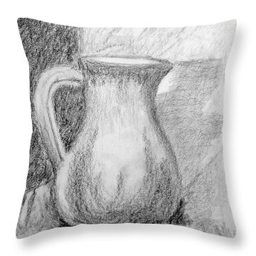Pencil Pitcher Throw Pillow by Jamie Frier