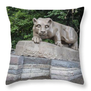 Penn Statue Statue  Throw Pillow by John McGraw