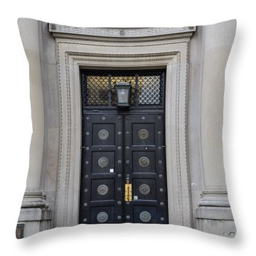 Penn State University Liberal Arts Door  Throw Pillow by John McGraw